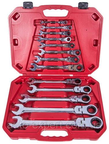 Набор трещоточных ключей шарнирных 8-32 мм Alloid 13 предметов (НК-8701-13)