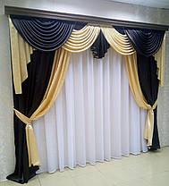 "Готовый ламбрекен + шторы ""Жаклин""- Атлас, фото 2"