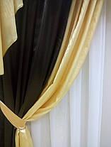 "Готовый ламбрекен + шторы ""Жаклин""- Атлас, фото 3"