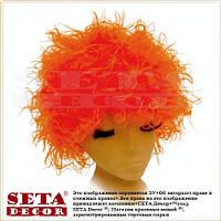 """Оранжевый (рыжий) парик лохматый объемный """"Кудрявый""""."""