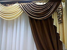 """Комплект штор """"Маргарет""""+лабрекен( Молочный шок.+ золото), фото 2"""