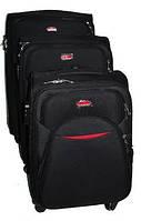 Чемодан Suitcase на четырех колесах черный средний
