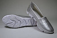 Балетки женские кожа серебро флотар № 27, фото 1