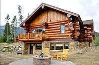 Строительство домов из дикого сруба, ручная рубка.