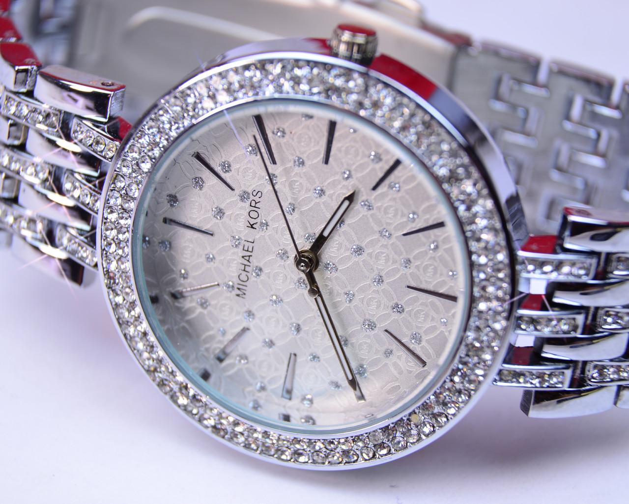 Женские часы MICHAE-L KOR-S Diamond Silver