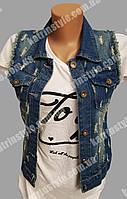 Стильная молодёжная джинсовая жилетка