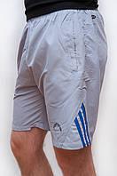 Мужские спортивные шорты плащевка светло серого цвета