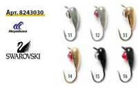 Мормышка вольфрамовая  Нимфа с петелькой Swarovski .8243030