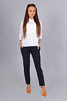 Элегантная белая блузка АЛЕКС,рукав3/4, патиком делается короткий
