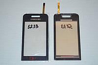Оригинальный тачскрин / сенсор (сенсорное стекло) для Samsung Star TV S5233 (черный цвет, самоклейка)