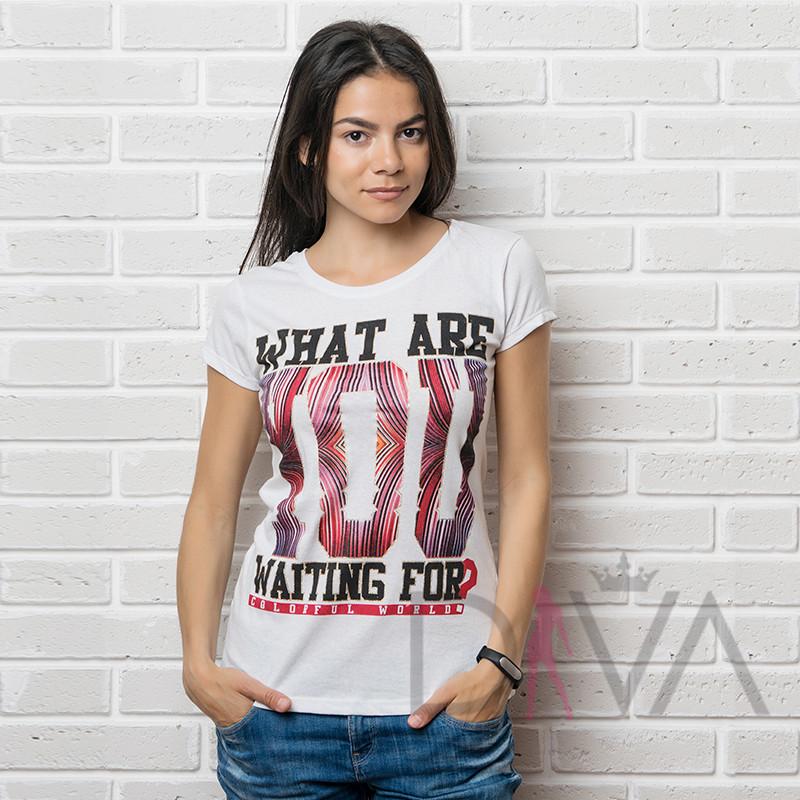 Футболка женская MAYK-7064white  футболки