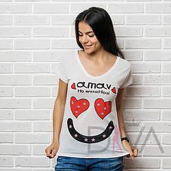 Стильная футболка женская MAYK-04
