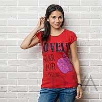 Красная футболка женская 17F-06red