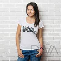 Белая футболка дешево женская E13white