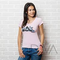 Брендовая футболка женская E13pink