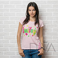 Футболка женская 17F-028L.pink футболки быстро и дешево