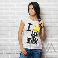 Футболка женская 17F-026milk распродажа женских маечек и футболок 2016