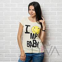 Желтая футболка женская 17F-026yellow