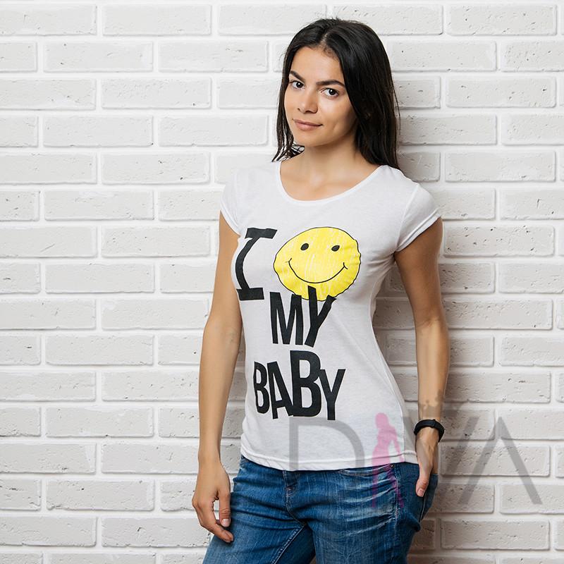 Женские футболки оптом 17F-026white Karteks