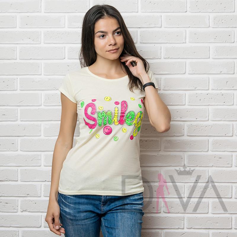 Футболка женская 17F-028yellow футболки женские турецкие