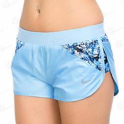 Голубые шорты женские оптом плащевка 03shrt-L.blue