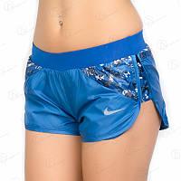 Шорты женские плащевка 03shrt-blue купить женские шотики опт