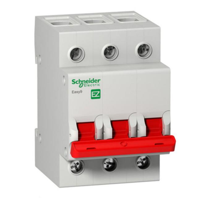 Выключатель нагрузки Schneider Electric Easy9, 80A, 3P, 5 kA