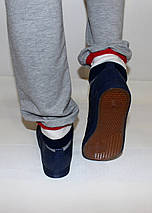 Мужские мокасины синие без шнурков, фото 3