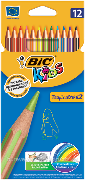 Цветные карандаши Bic TROPICOLORS ® 2 12цв