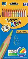 Цветные карандаши Bic TROPICOLORS® 2 12цв