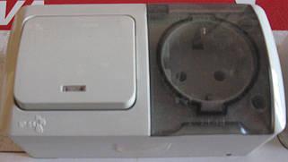 Пыле-влаго-защищенные розетки, выключатели и блоки ABB EL-BI серии EVA IP54