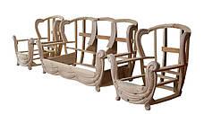 """Кожаный двухместный раскладной диван """"Джозеф"""" без резьбы (150см), фото 3"""