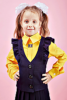 Школьная жилетка для девочки №112 (т.синий)