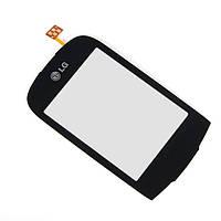 Сенсор, тачскрин LG T500, T510, T515 черный