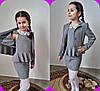 """Школьное детское платье для девочки """"Настя"""" с баской и кожаным воротничком (3 цвета), фото 2"""