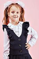 Школьная жилетка для девочки №112 (черный)