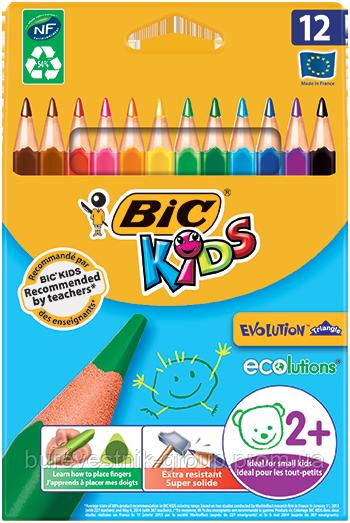 Цветные карандаши Bic EVOLUTION™ TRIANGLE 12цв