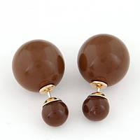Серьги Mise En Dior коричневые