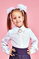 Детская школьная блузка для девочки №106  (белый)