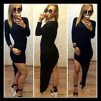 Эфектное  трикотажное платье
