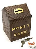 Копилка из дерева Money Bank