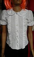 Блузка детская Белая школьная