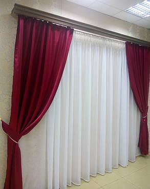 Готовые атласные шторы Бордо, фото 2