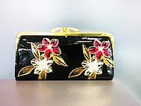 Нарядный лаковый кошелек 20 см на 10 см ( разные расцветки)