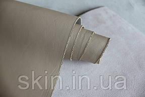 Натуральная кожа для кожгалантереи и обуви бежевого цвета, толщина 1.0 мм, арт. СК 2105, фото 2