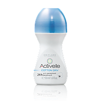 ACTIVELLE  Шариковый дезодорант-антиперспирант 24-часового действия с натуральной пудрой хлопка «Активэль»