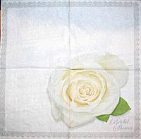Салфетка декупажная Белая роза