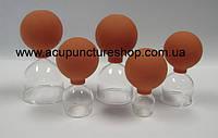 Вакуумные стеклянные банки с резиновой грушей