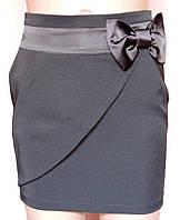 Детская школьная юбка прямая Черная