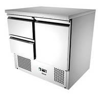 Мини холодильный стол с динамическим охлаждением 2 выдвижных ящика и 1 дверка Bartscher 110157